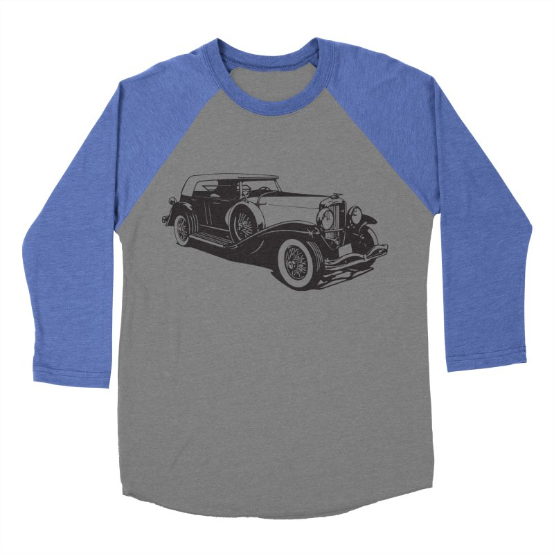 The Duesenberg Women's Baseball Triblend Longsleeve T-Shirt by Midnight Studio