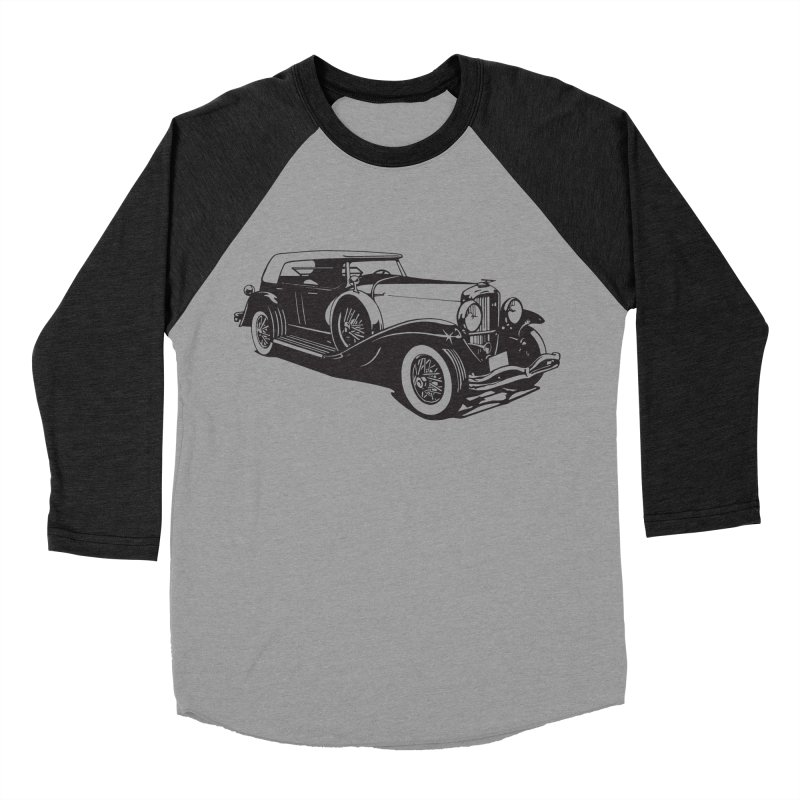 The Duesenberg Men's Baseball Triblend Longsleeve T-Shirt by Midnight Studio