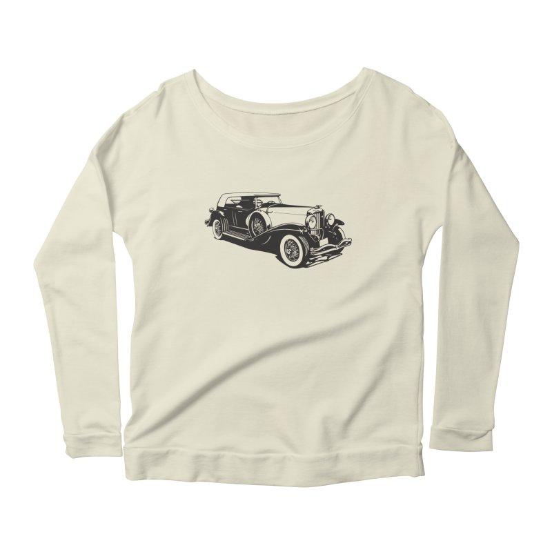 The Duesenberg Women's Scoop Neck Longsleeve T-Shirt by Midnight Studio