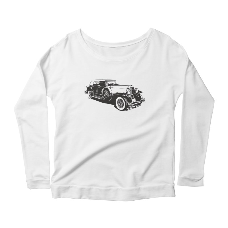 The Duesenberg Women's Longsleeve Scoopneck  by Midnight Studio