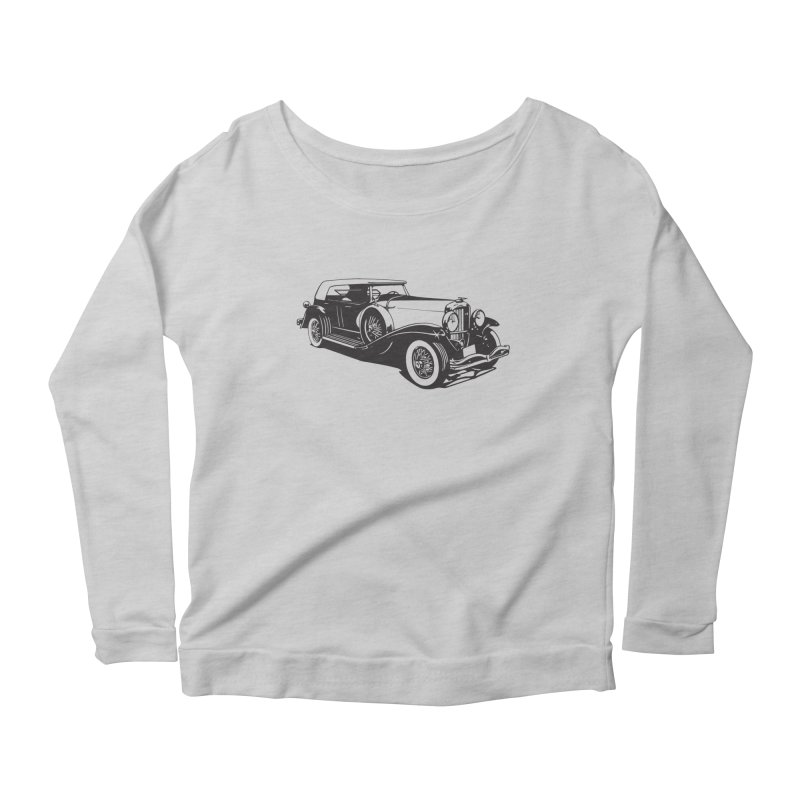 The Duesenberg Women's Scoop Neck Longsleeve T-Shirt by Midnight Studio