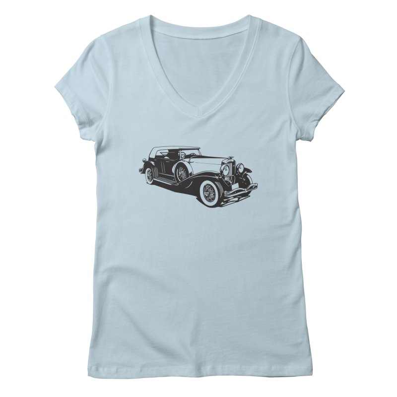 The Duesenberg Women's V-Neck by Midnight Studio