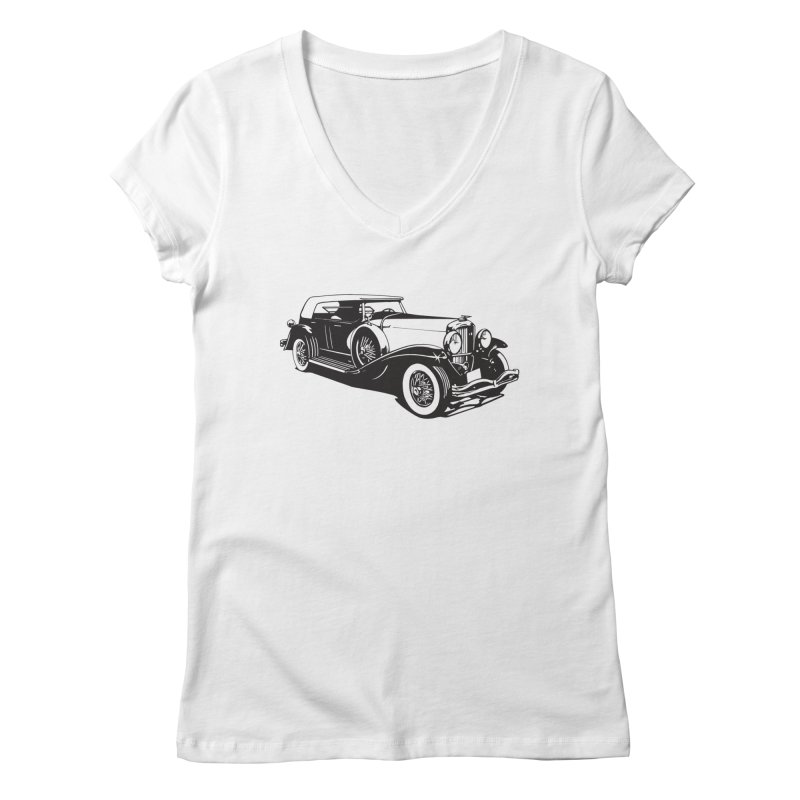 The Duesenberg Women's Regular V-Neck by Midnight Studio
