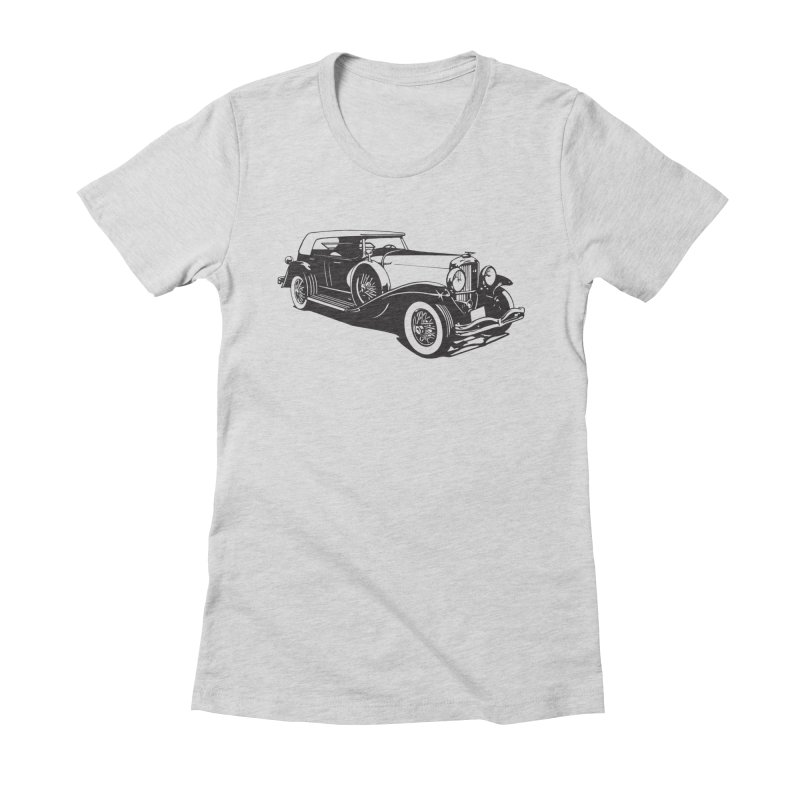 The Duesenberg Women's Fitted T-Shirt by Midnight Studio