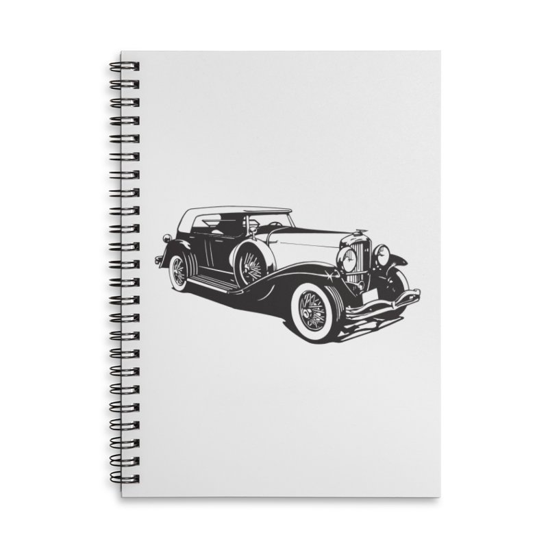 The Duesenberg Accessories Lined Spiral Notebook by Midnight Studio