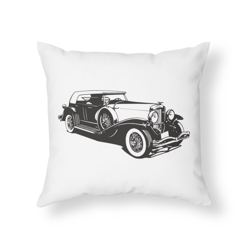 The Duesenberg Home Throw Pillow by Midnight Studio