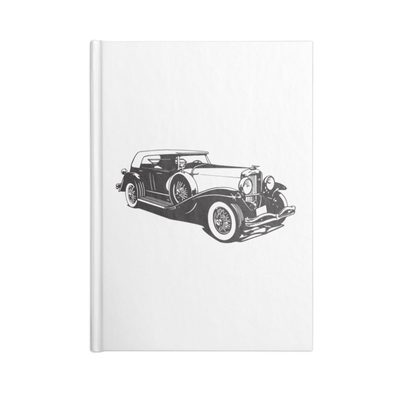 The Duesenberg Accessories Blank Journal Notebook by Midnight Studio