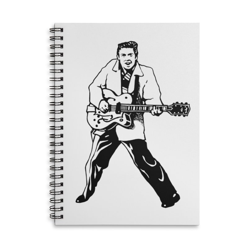 Eddie Cochran - Summertime Blues Edition Accessories Lined Spiral Notebook by Midnight Studio