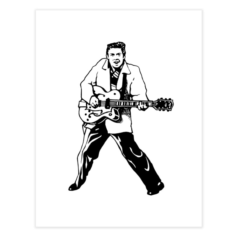 Eddie Cochran - Summertime Blues Edition Home Fine Art Print by Midnight Studio