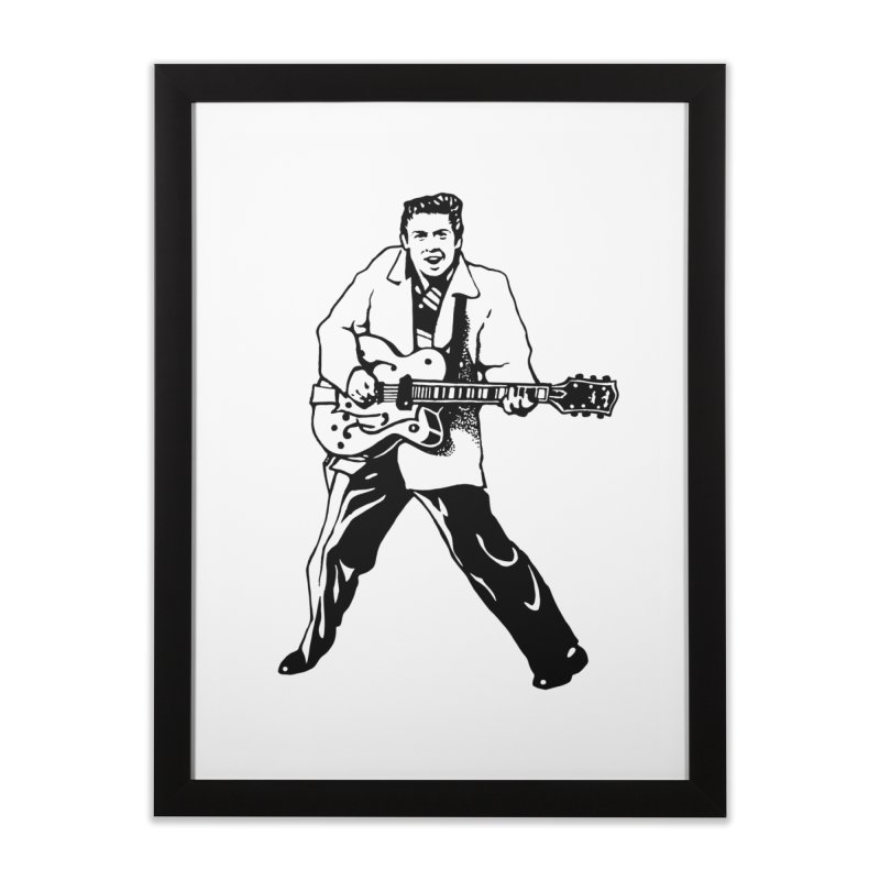 Eddie Cochran - Summertime Blues Edition Home Framed Fine Art Print by Midnight Studio