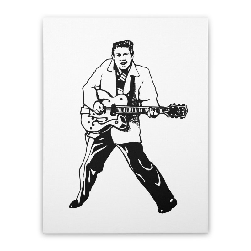 Eddie Cochran - Summertime Blues Edition Home Stretched Canvas by Midnight Studio