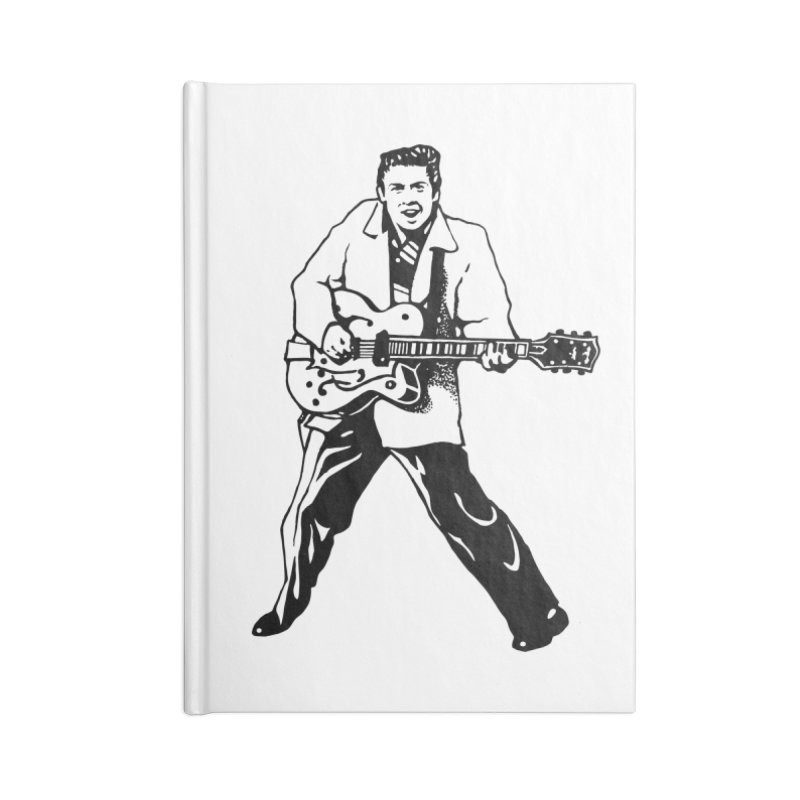 Eddie Cochran - Summertime Blues Edition Accessories Blank Journal Notebook by Midnight Studio