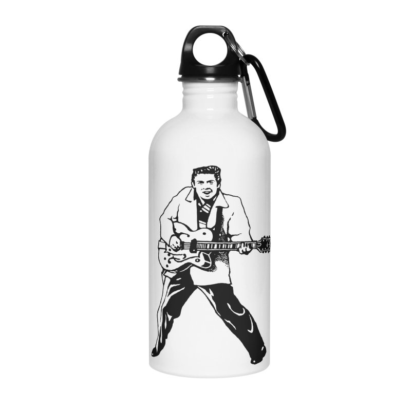 Eddie Cochran - Summertime Blues Edition Accessories Water Bottle by Midnight Studio