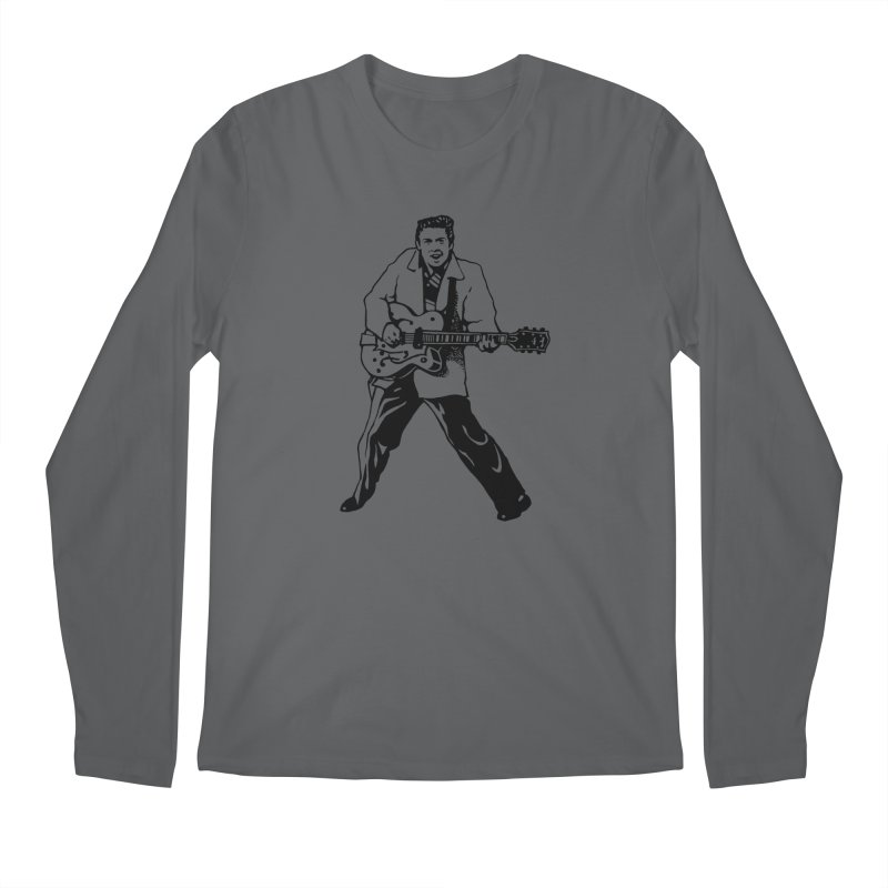 Eddie Cochran - Summertime Blues Edition Men's Longsleeve T-Shirt by Midnight Studio