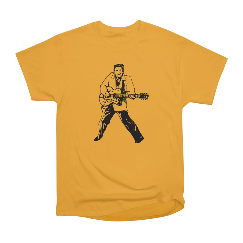 Eddie Cochran - Summertime Blues Edition in Men's Classic T-Shirt Gold by Midnight Studio