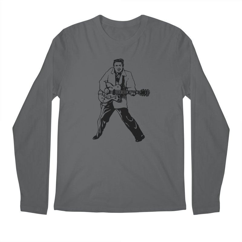Eddie Cochran - Summertime Blues Edition Men's Regular Longsleeve T-Shirt by Midnight Studio