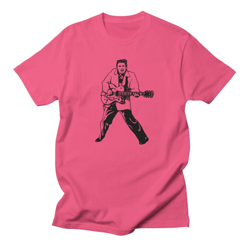 Eddie Cochran - Summertime Blues Edition in Women's Unisex T-Shirt Fuchsia by Midnight Studio