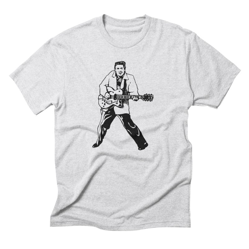 Eddie Cochran - Summertime Blues Edition Men's Triblend T-Shirt by Midnight Studio