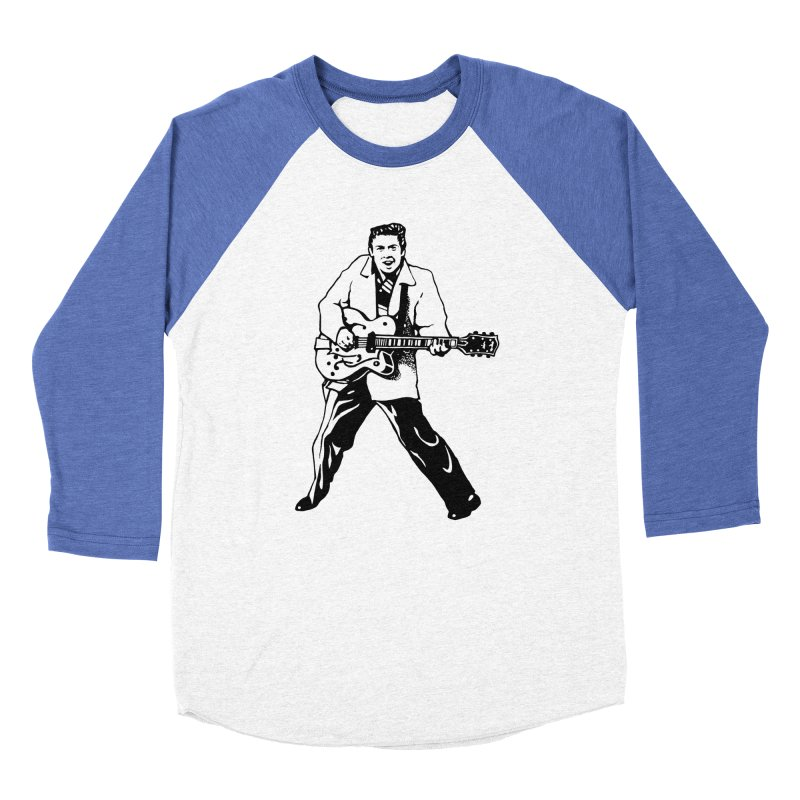 Eddie Cochran - Summertime Blues Edition Women's Baseball Triblend Longsleeve T-Shirt by Midnight Studio