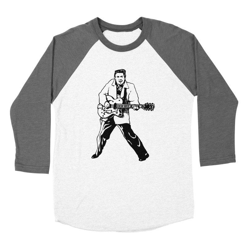 Eddie Cochran - Summertime Blues Edition Women's Baseball Triblend Longsleeve T-Shirt by Midnight Studio