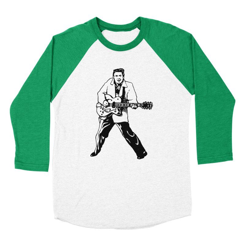 Eddie Cochran - Summertime Blues Edition Men's Baseball Triblend Longsleeve T-Shirt by Midnight Studio