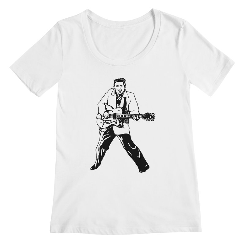 Eddie Cochran - Summertime Blues Edition Women's Regular Scoop Neck by Midnight Studio