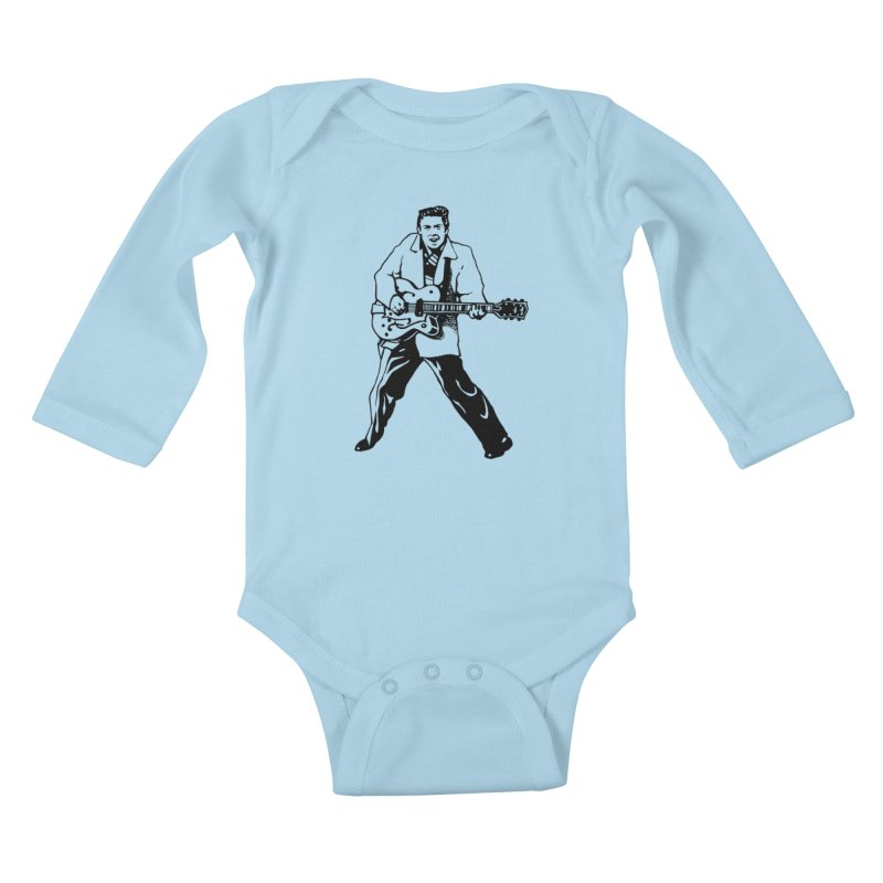 Eddie Cochran - Summertime Blues Edition Kids Baby Longsleeve Bodysuit by Midnight Studio