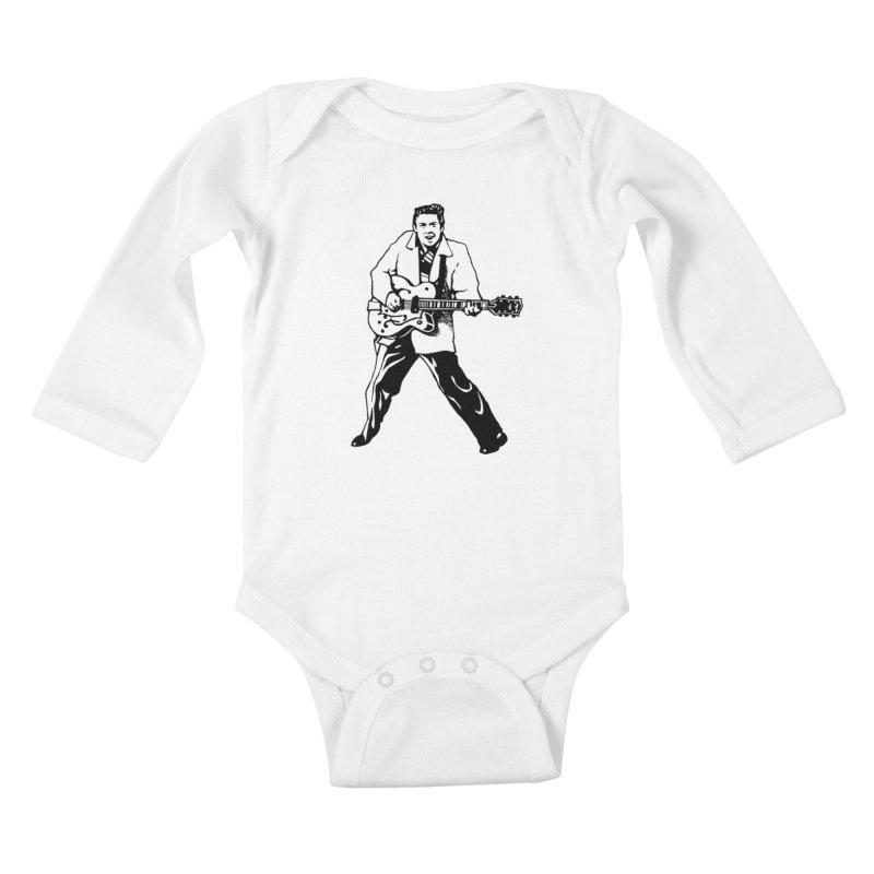 Eddie Cochran - Summertime Blues Edition Kids Baby Longsleeve Bodysuit by Midnight Studio
