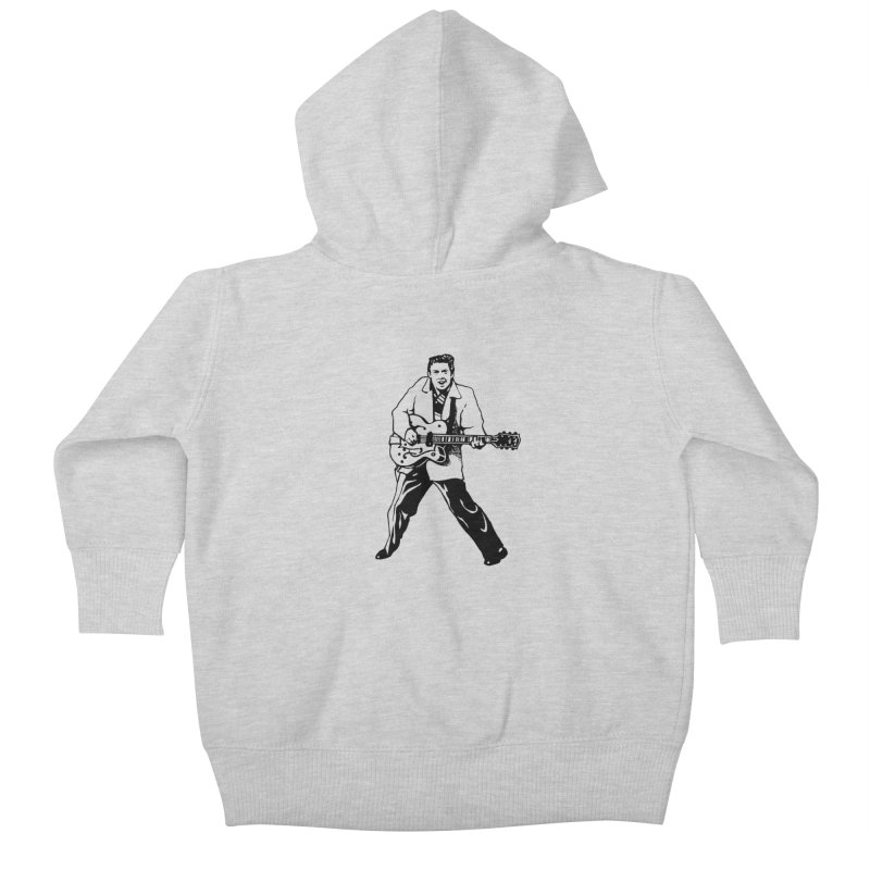 Eddie Cochran - Summertime Blues Edition Kids Baby Zip-Up Hoody by Midnight Studio