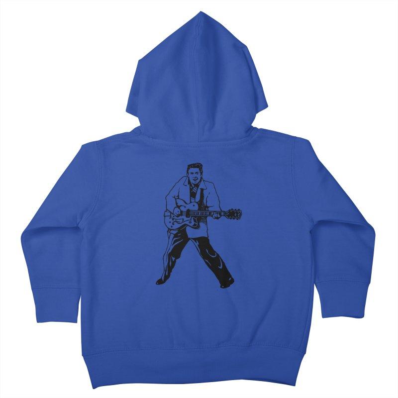 Eddie Cochran - Summertime Blues Edition Kids Toddler Zip-Up Hoody by Midnight Studio