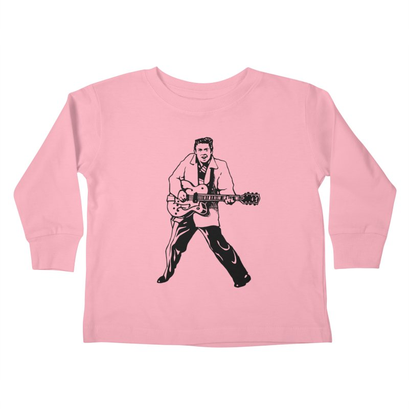 Eddie Cochran - Summertime Blues Edition Kids Toddler Longsleeve T-Shirt by Midnight Studio