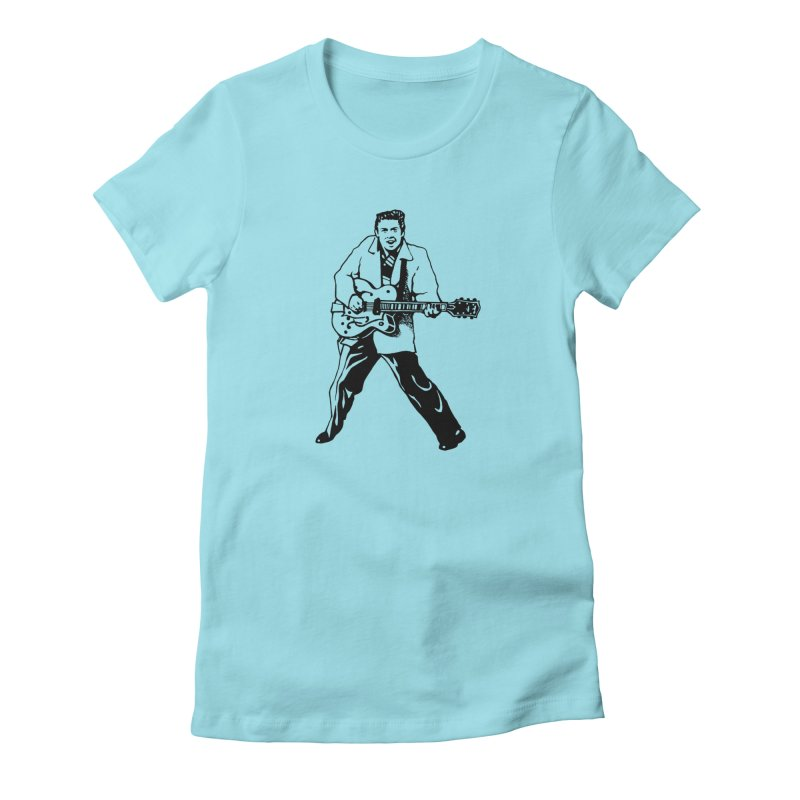 Eddie Cochran - Summertime Blues Edition in Women's Fitted T-Shirt Cancun by Midnight Studio