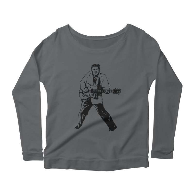 Eddie Cochran - Summertime Blues Edition Women's Longsleeve Scoopneck  by Midnight Studio