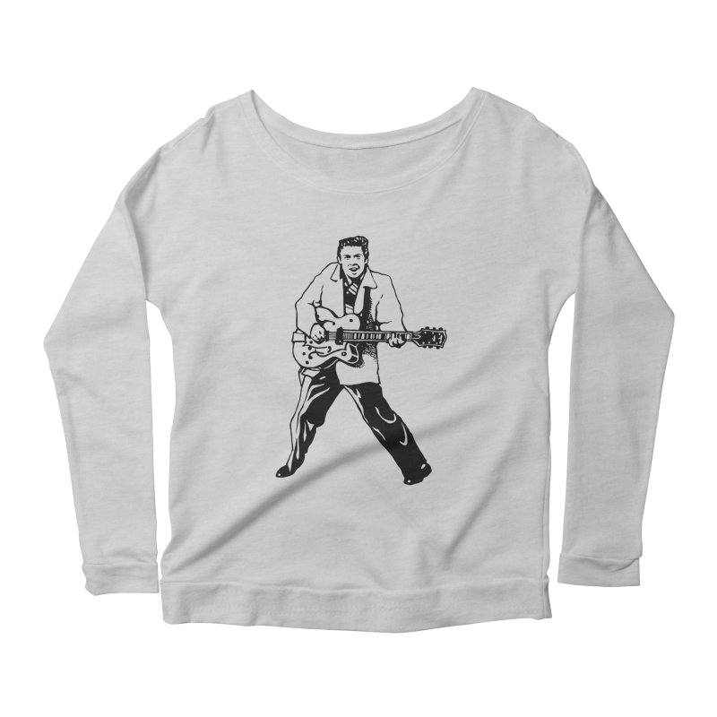 Eddie Cochran - Summertime Blues Edition Women's Scoop Neck Longsleeve T-Shirt by Midnight Studio