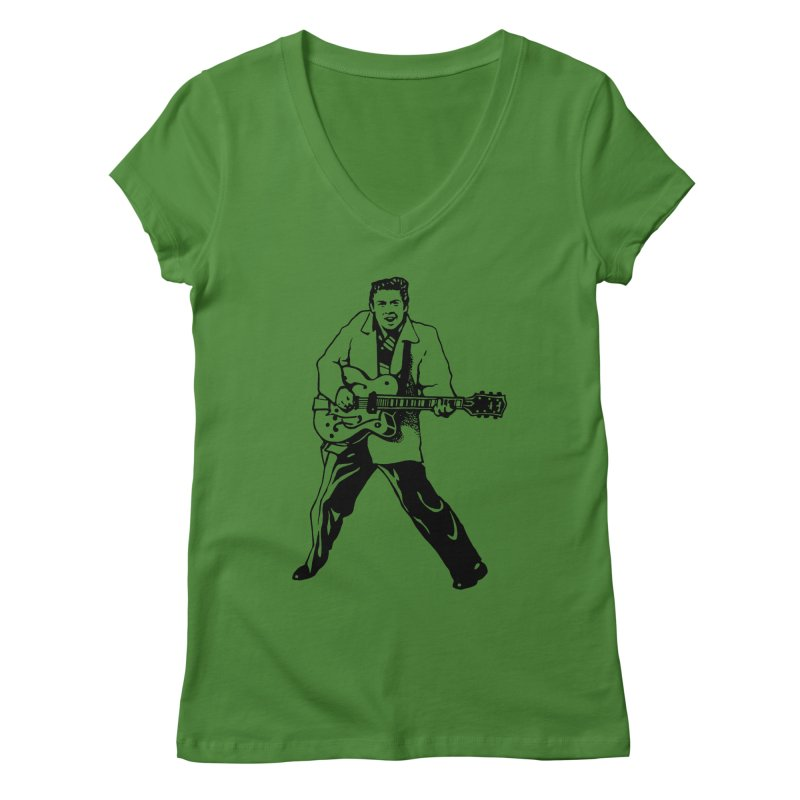Eddie Cochran - Summertime Blues Edition Women's Regular V-Neck by Midnight Studio