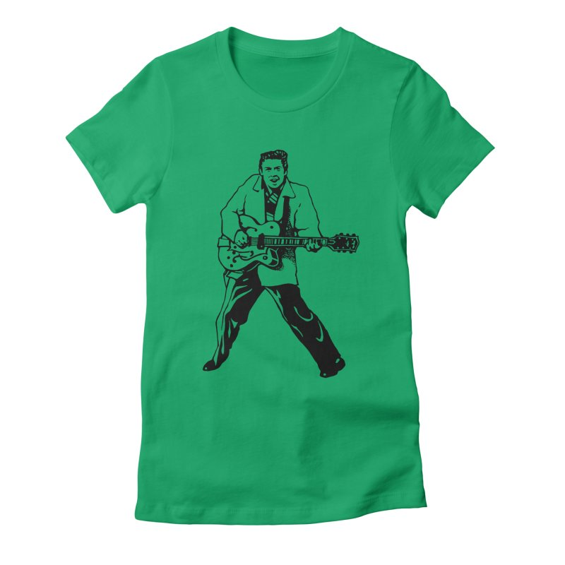 Eddie Cochran - Summertime Blues Edition Women's Fitted T-Shirt by Midnight Studio