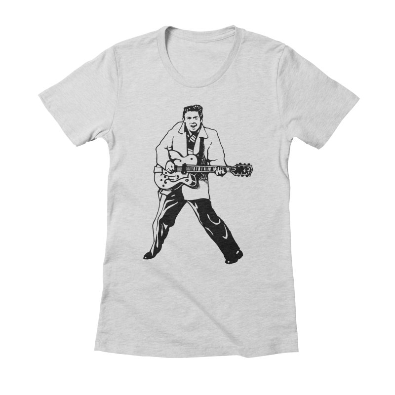 Eddie Cochran - Summertime Blues Edition Women's Fitted T-Shirt by Midnight Studio