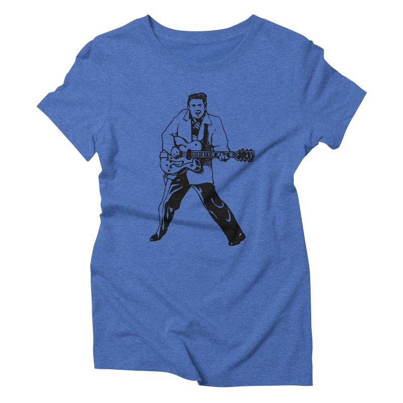Eddie Cochran - Summertime Blues Edition Women's Triblend T-Shirt by Midnight Studio