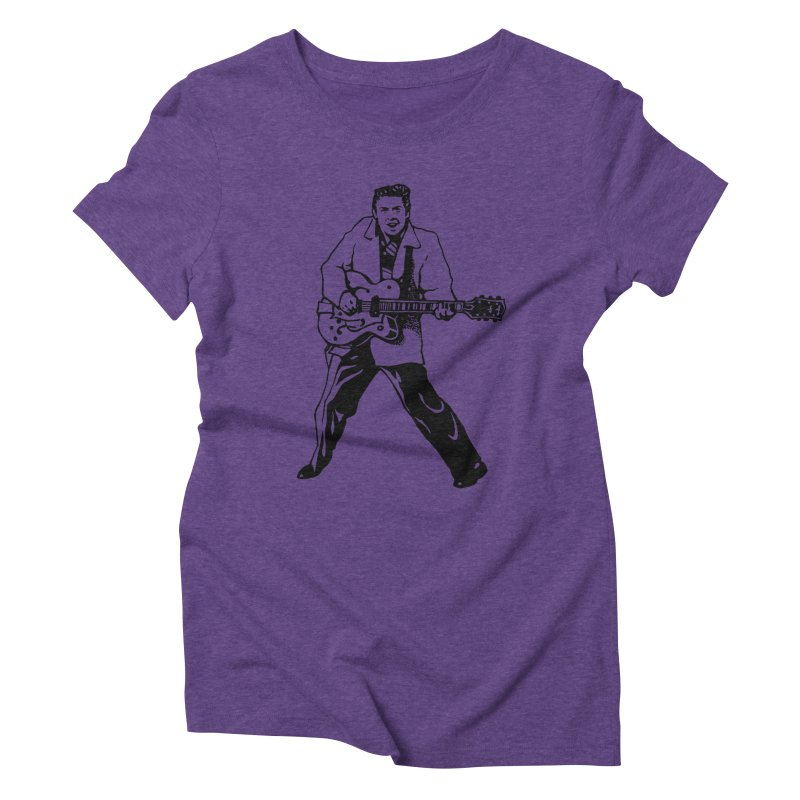 Eddie Cochran - Summertime Blues Edition Women's Triblend T-Shirt by Midnight Studio