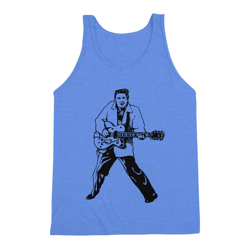 Eddie Cochran - Summertime Blues Edition Men's Triblend Tank by Midnight Studio
