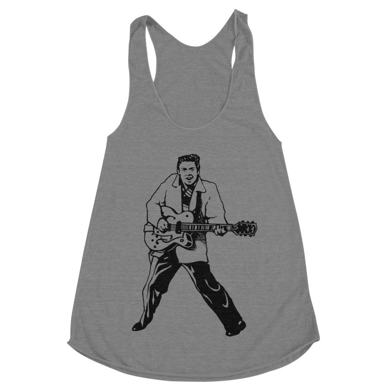 Eddie Cochran - Summertime Blues Edition Women's Racerback Triblend Tank by Midnight Studio