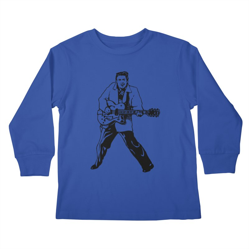 Eddie Cochran - Summertime Blues Edition Kids Longsleeve T-Shirt by Midnight Studio