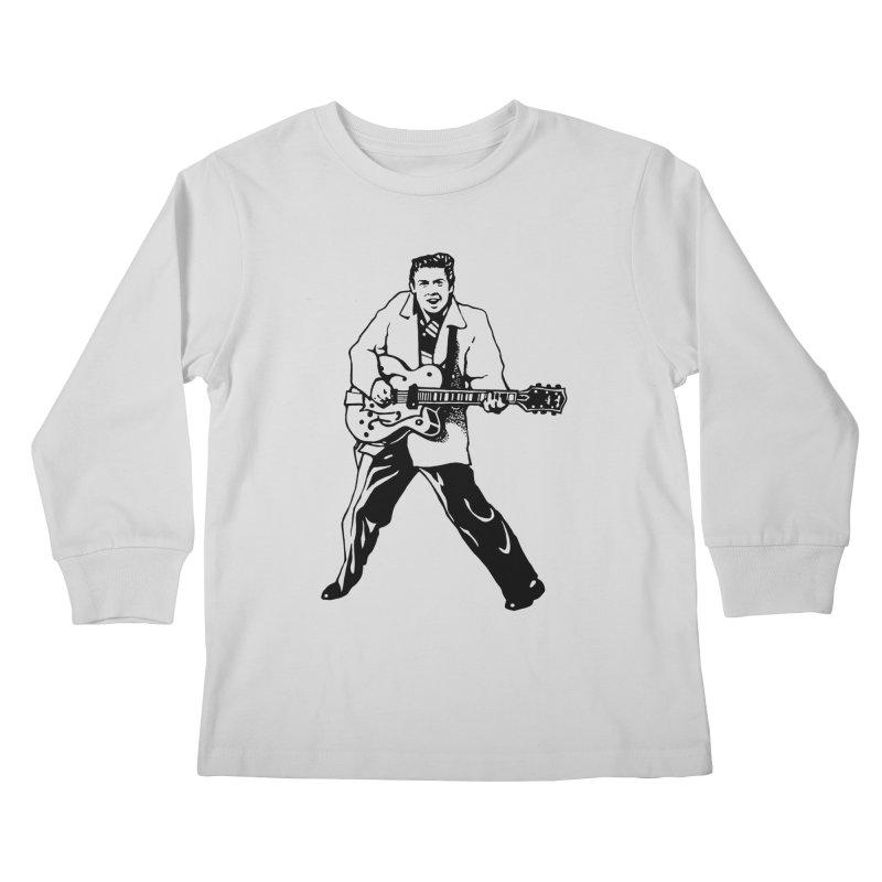 Eddie Cochran - Summertime Blues Edition Kids Longsleeve T-Shirt by Midnight Studio