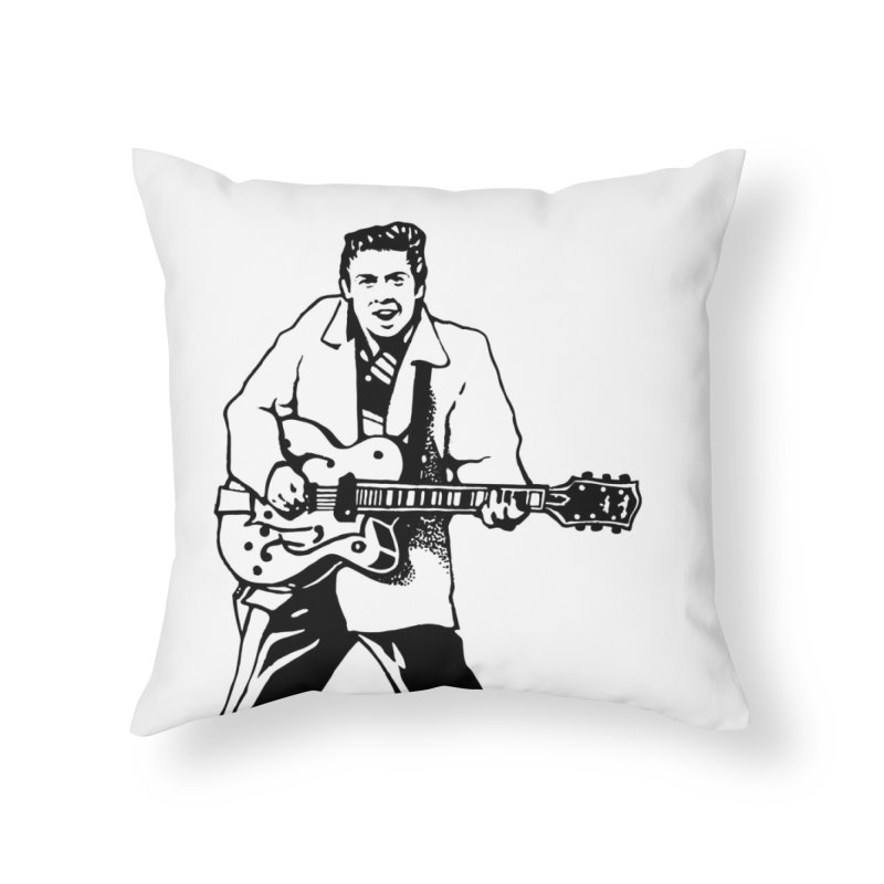 Eddie Cochran - Summertime Blues Edition Home Throw Pillow by Midnight Studio