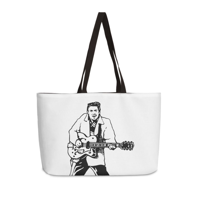 Eddie Cochran - Summertime Blues Edition Accessories Weekender Bag Bag by Midnight Studio