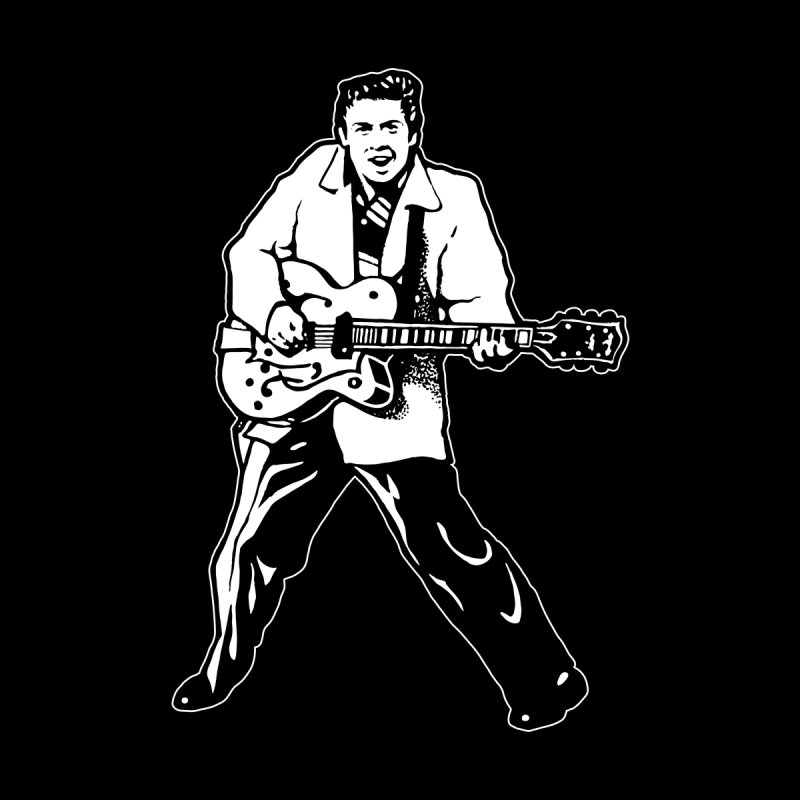 Eddie Cochran - Black Edition Home Stretched Canvas by Midnight Studio