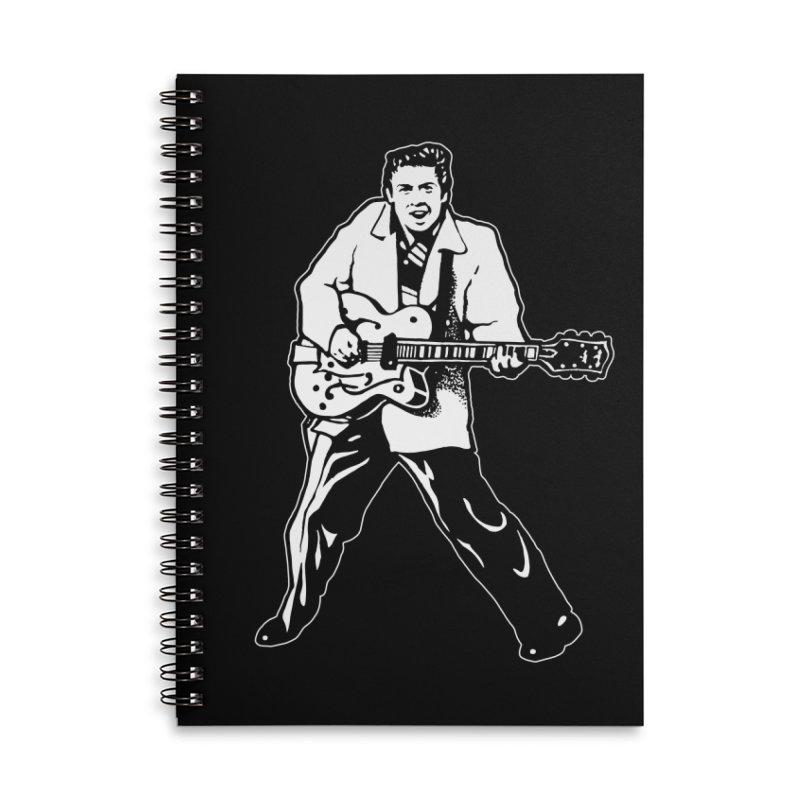 Eddie Cochran - Black Edition Accessories Lined Spiral Notebook by Midnight Studio