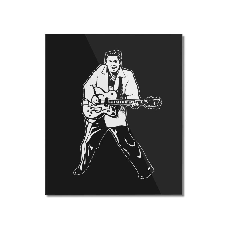 Eddie Cochran - Black Edition Home Mounted Acrylic Print by Midnight Studio