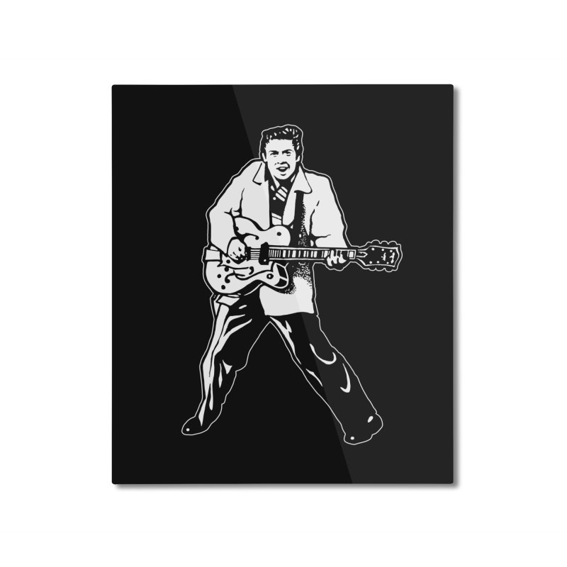 Eddie Cochran - Black Edition Home Mounted Aluminum Print by Midnight Studio