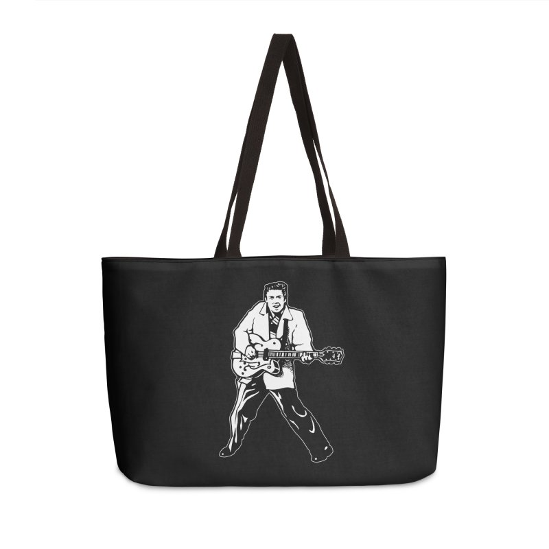 Eddie Cochran - Black Edition Accessories Weekender Bag Bag by Midnight Studio